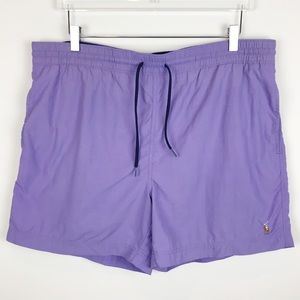 Polo Ralph Lauren Purple Drawstring Swim Suit L
